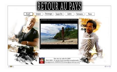 """Site Web du film """"Retour au Pays""""1"""
