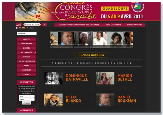 Congrès des écrivains de la caraibe Auteurs