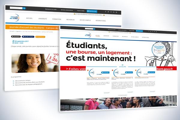 Site internet Université des Antilles